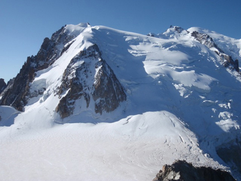 Route up Mont Blanc