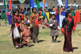 Women and children in traditional dress