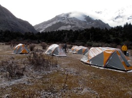 Our camp at Limithang