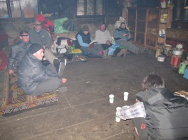 'Gompa' room where Sue slept