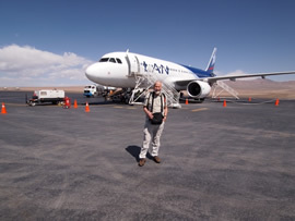 Chris by the plane