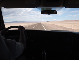 The 90 minute drive through one of the driest places on earth