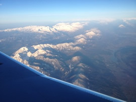 View of Triglav from the plane