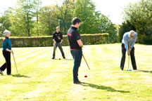 Playing croquet with Lancaster and York Universities