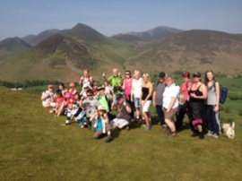 Chris with everyone at top of Cat Bells