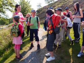 Sponsored walk with children from Aspatria