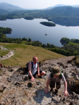 Derwent Water from Catbells with Will and Rupert Bonington
