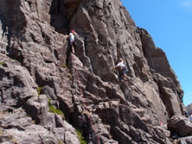 A route up the crag