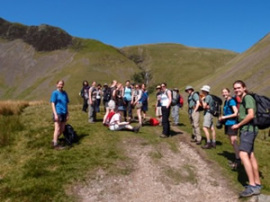 Joined the University hiking Club for a walk in the Howgill Fells