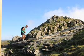 A runner going up SNowden