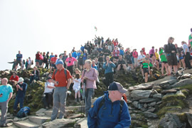 The crowd at the top of Snowden