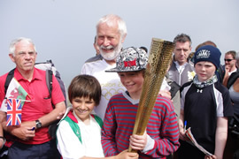 Chris sharing the torch