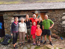 Our family with the hostel wardens Martin and Suzy
