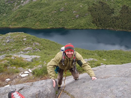 Hans Petter on the second pitch