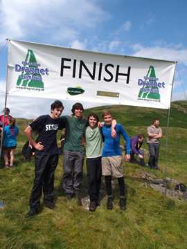Scouts at the finish