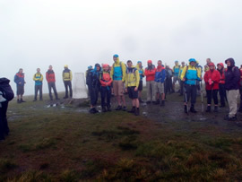 Summit of the Calf in thick cloud