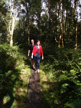 Rupert, woodland walk