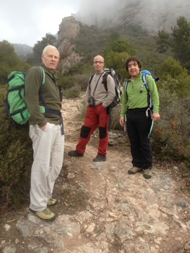 Xavier Perez who looks after Berghaus in Spain, on left, his friend Jose in the centre and Mike Rhodes